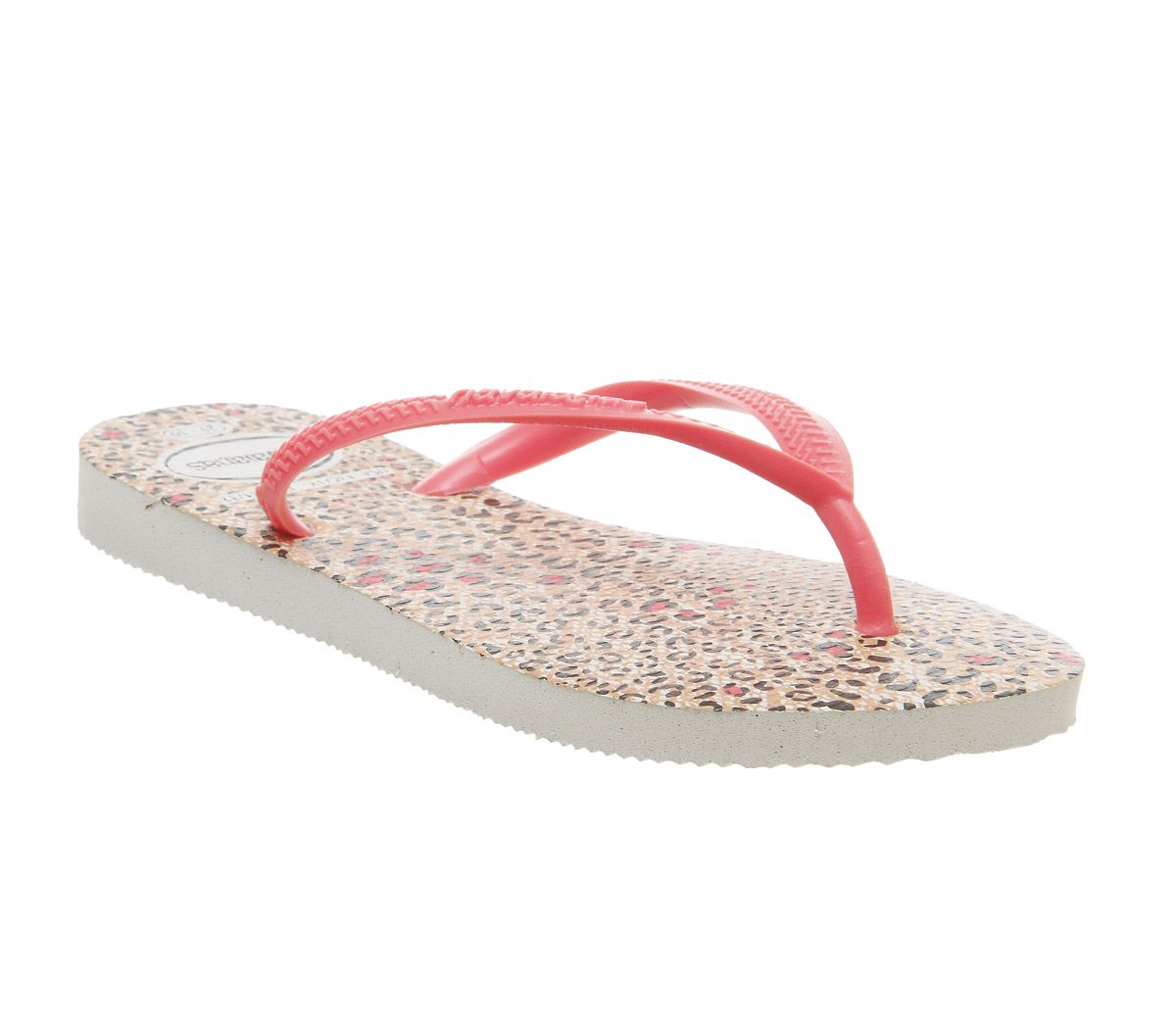 a7ec8bcaf10cb Havaianas Slim Fashion Kids Flip Flops Coral Leopard - Unisex