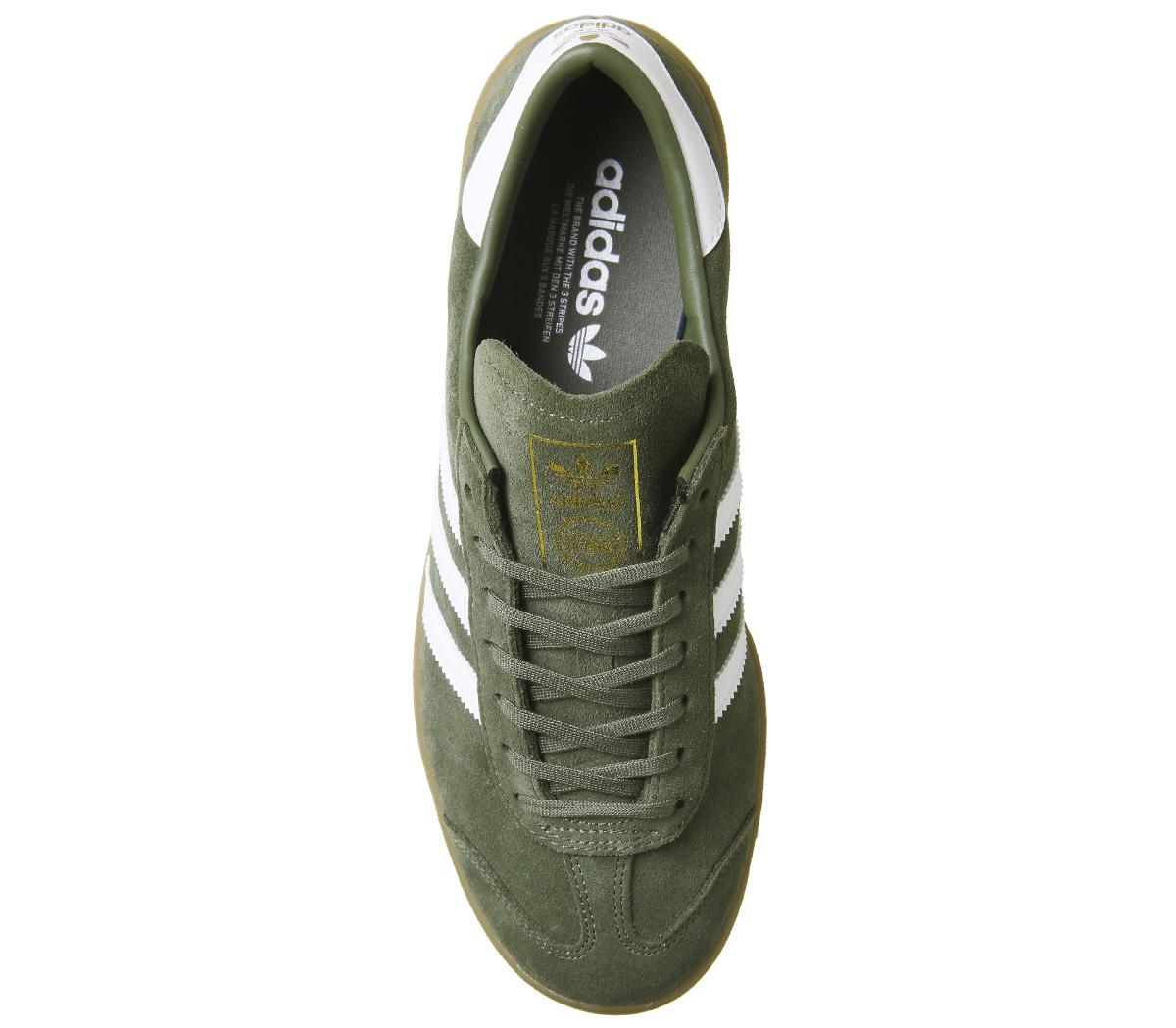 Adidas Exclusive Hamburg Herren Khaki Trainers Sneaker White Nmn8w0