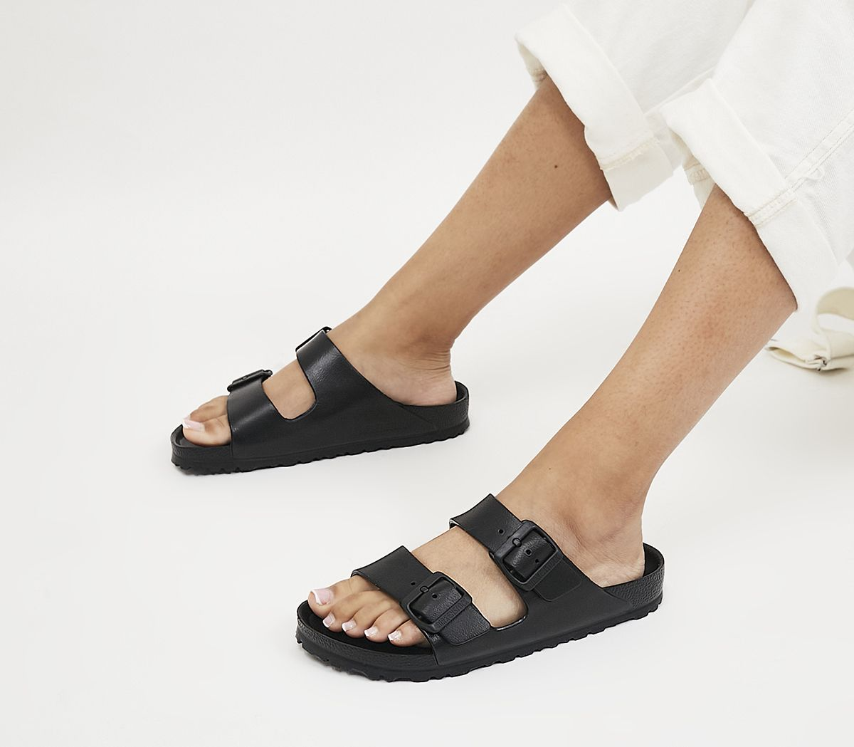 ef601d5134f63 Birkenstock Arizona Two Strap Sandals Black Eva - Sandals