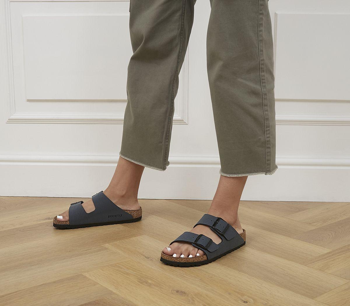 e6a4d2b5 Birkenstock Arizona Two Strap Basalt Nubuck - Sandals