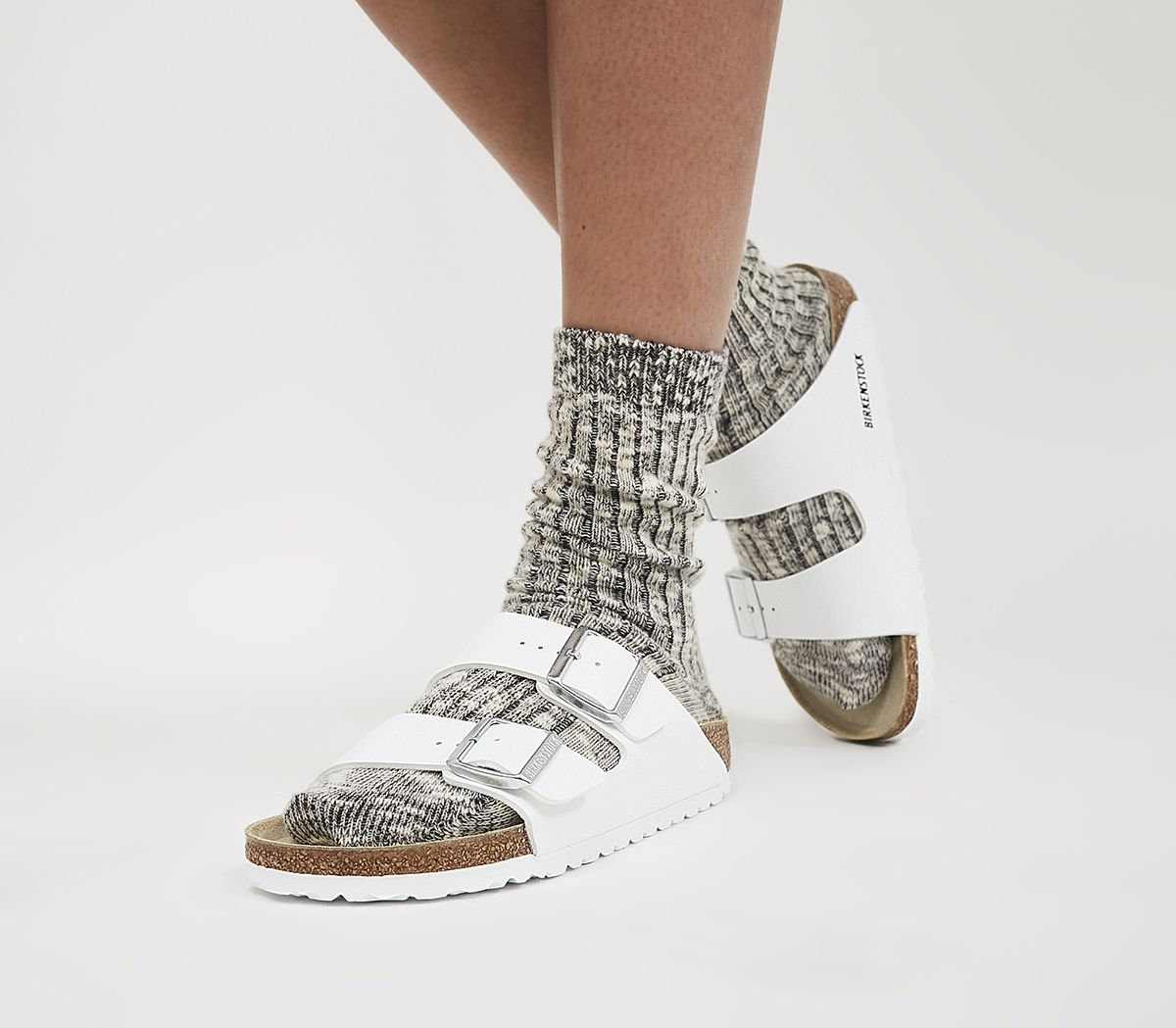 d0063fe988 Birkenstock Arizona Two Strap Sandals White Birko Flor - Sandals
