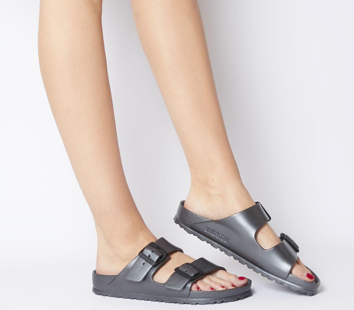 05d2e744ded3 Birkenstock Arizona Two Strap Sandals Metallic Anthracite Eva - Sandals