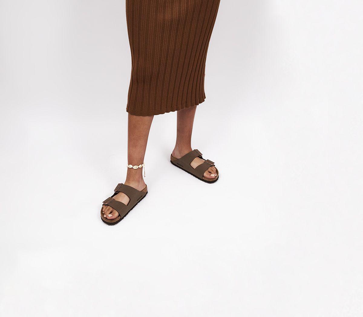 60d0685f7 Birkenstock Arizona Two Strap Sandals Mocha Birko Flor - Sandals
