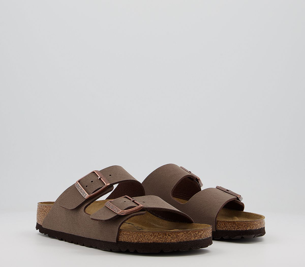 Birkenstock Arizona Two Strap Sandals Mocha Birko Flor