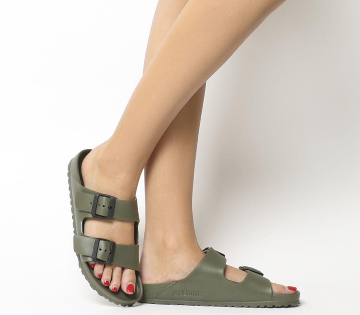 c94f76e8a0a9 Birkenstock Arizona Two Strap Khaki Eva - Sandals