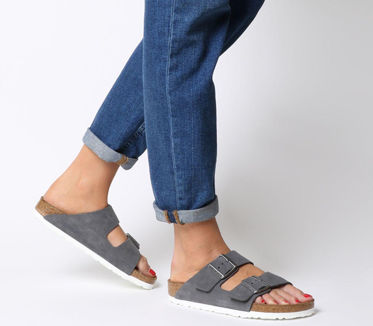 362a58ab1 Birkenstock Arizona Two Strap Sandals Stone Suede - Sandals
