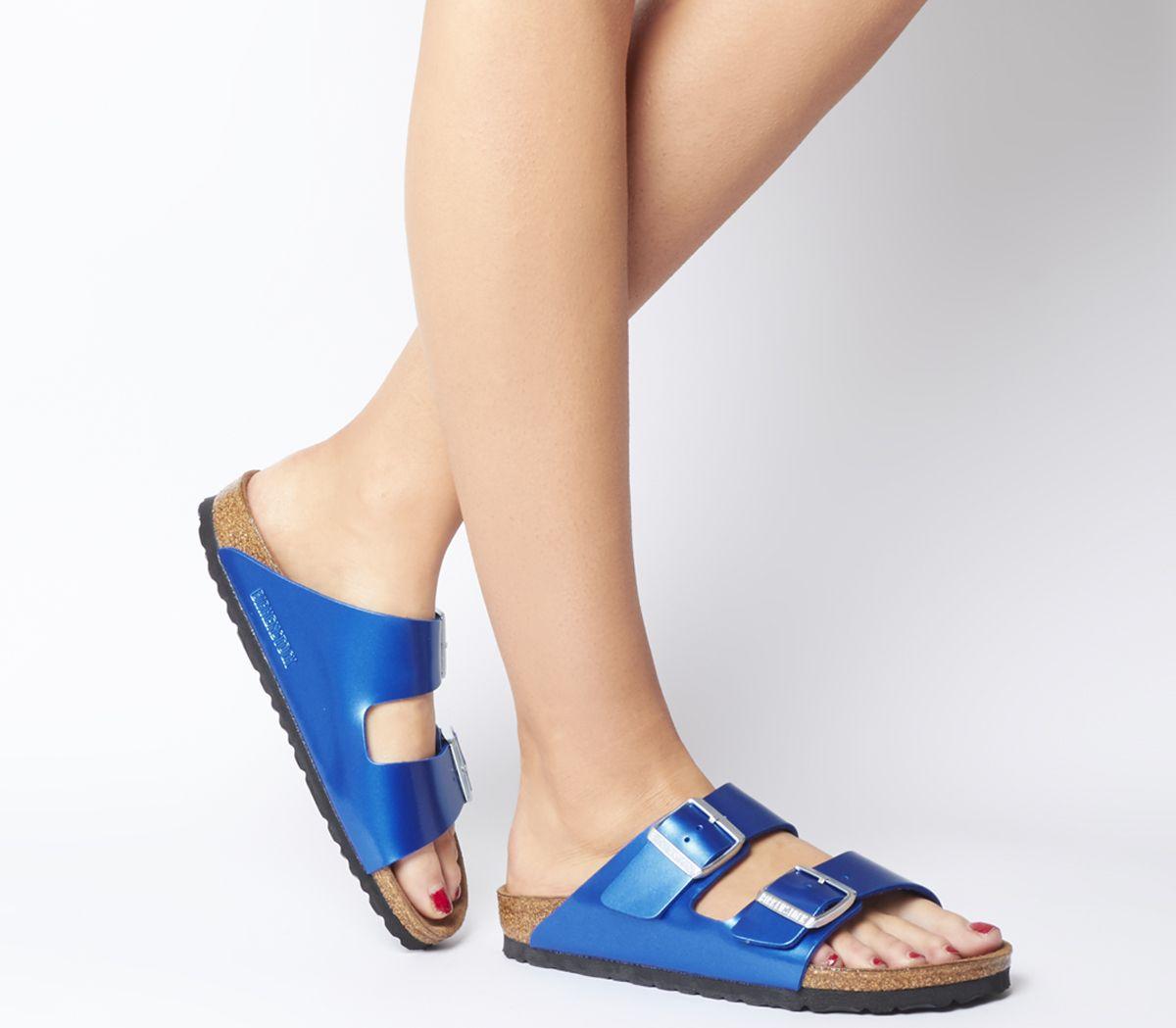 729c588b50865 Birkenstock Arizona Two Strap Sandals Electric Metallic Ocean - Sandals