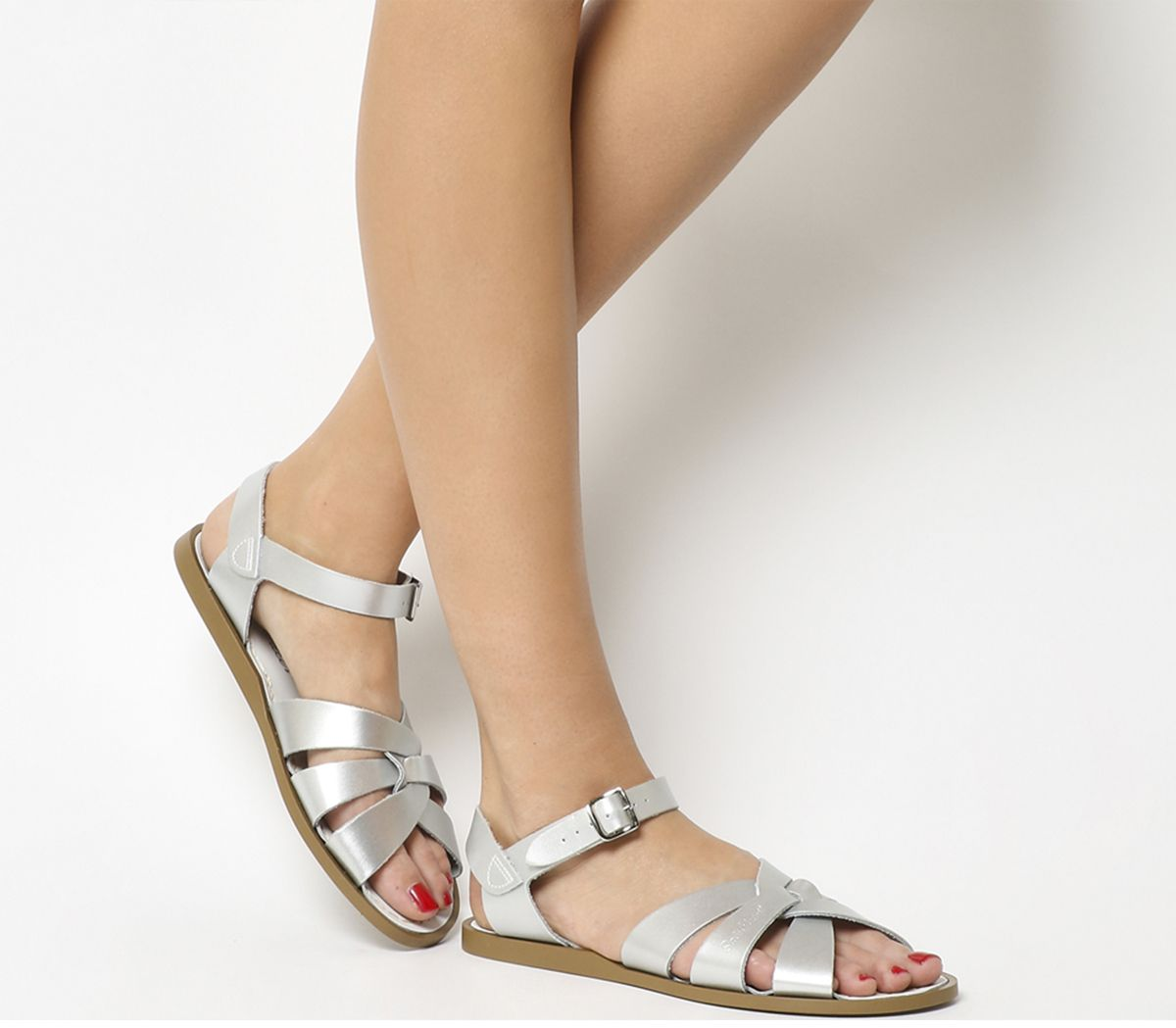 29e2f9fc6 Salt Water Original Sandals Silver Leather - Sandals