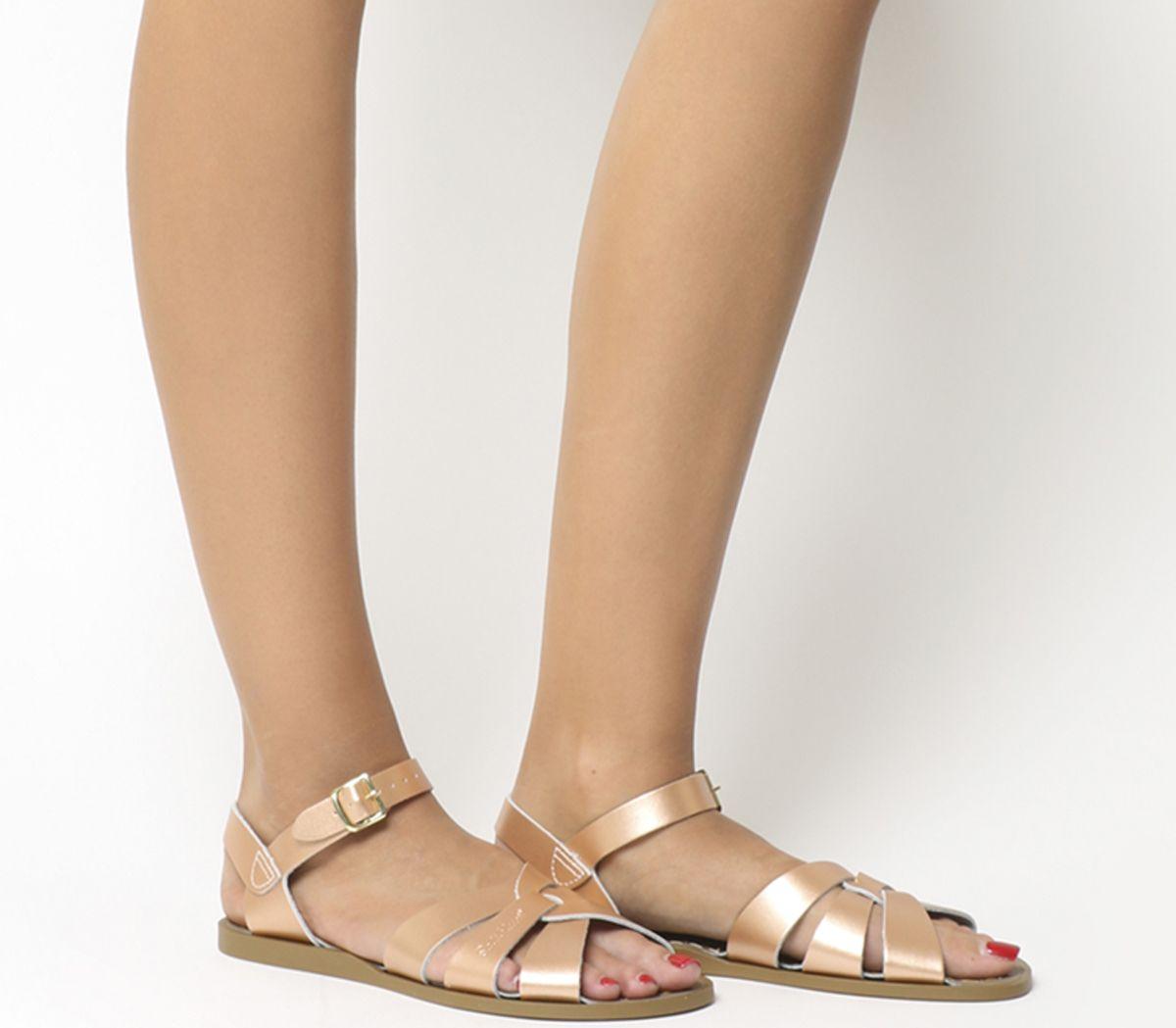 87fe96f23 Salt Water Salt Water Original Rose Gold Leather - Sandals