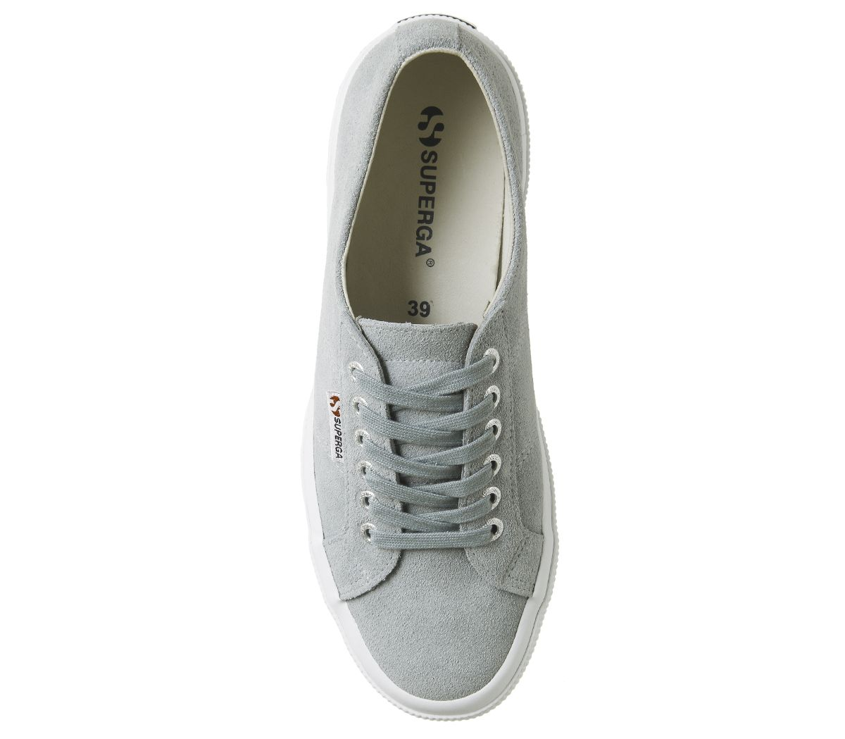 d48e84fa11d Superga 2750 Trainers Light Grey Suede - Hers trainers