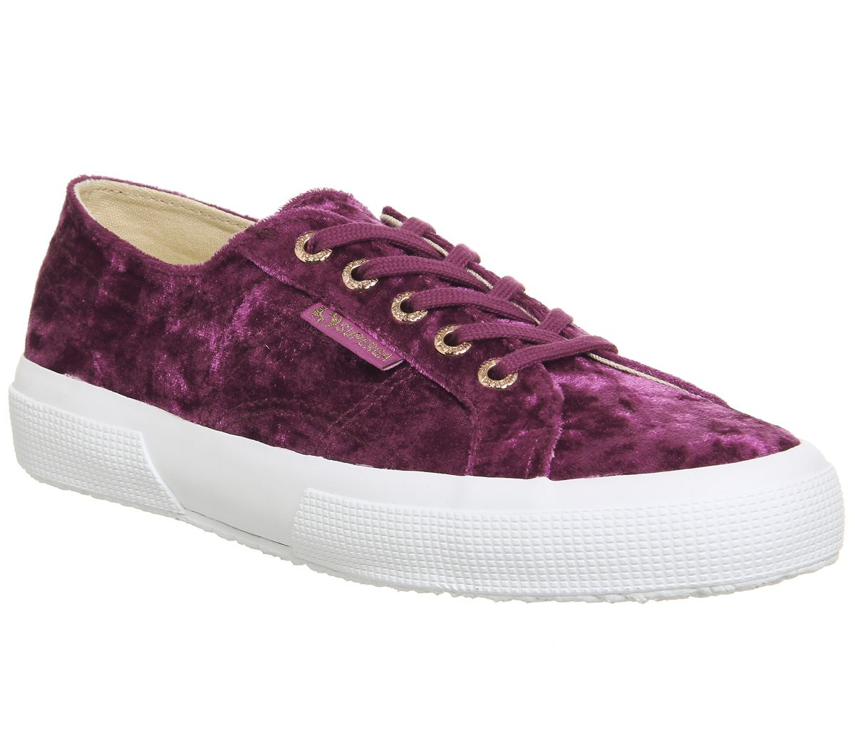 d13d91a7d047f Superga 2750 Trainers Pink Ash Rose Velvet - Hers trainers