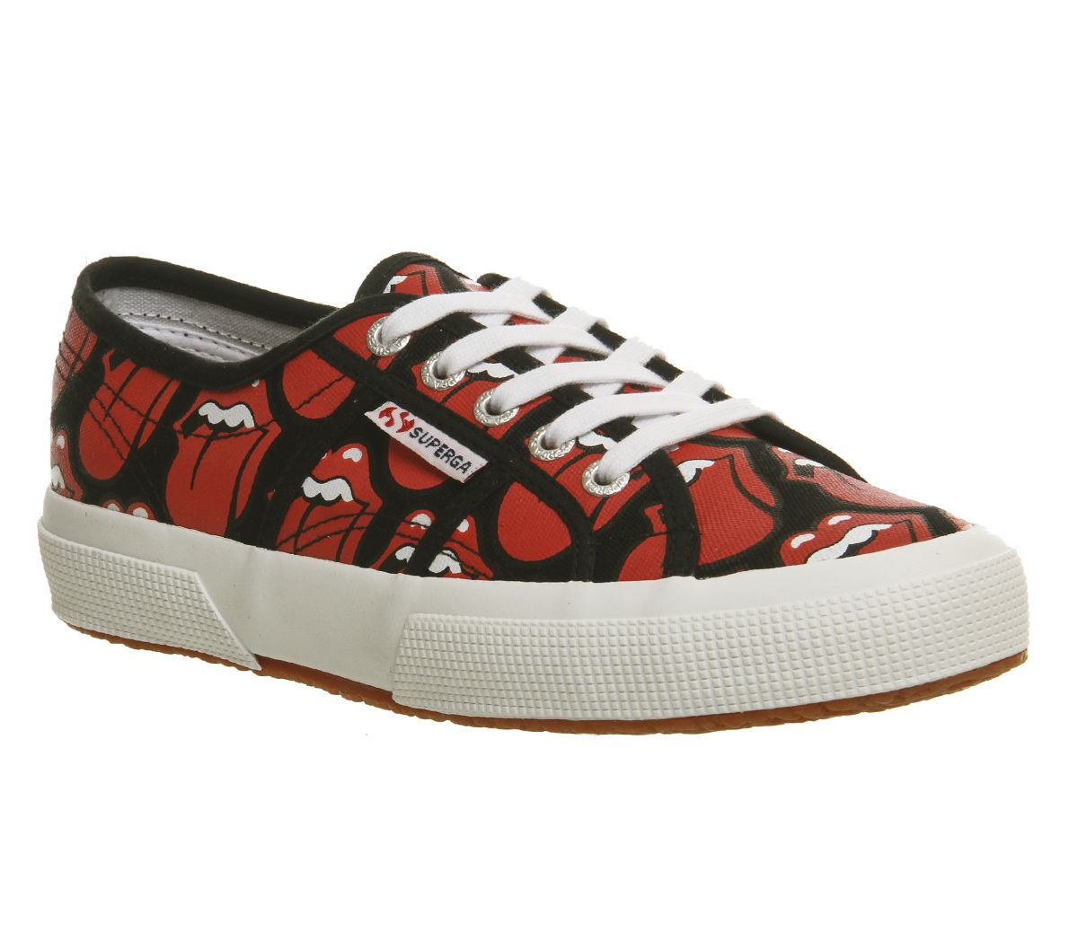 20cf650d3fb9f Superga 2750 Rolling Stones Black Red Lips - Hers trainers