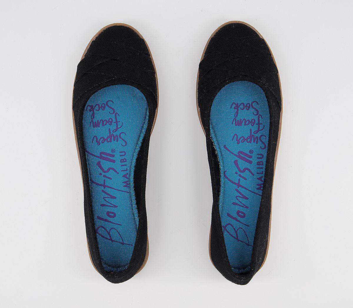 48850eb8c031d0 Blowfish Glo Ballet Pumps Black Canvas - Flats