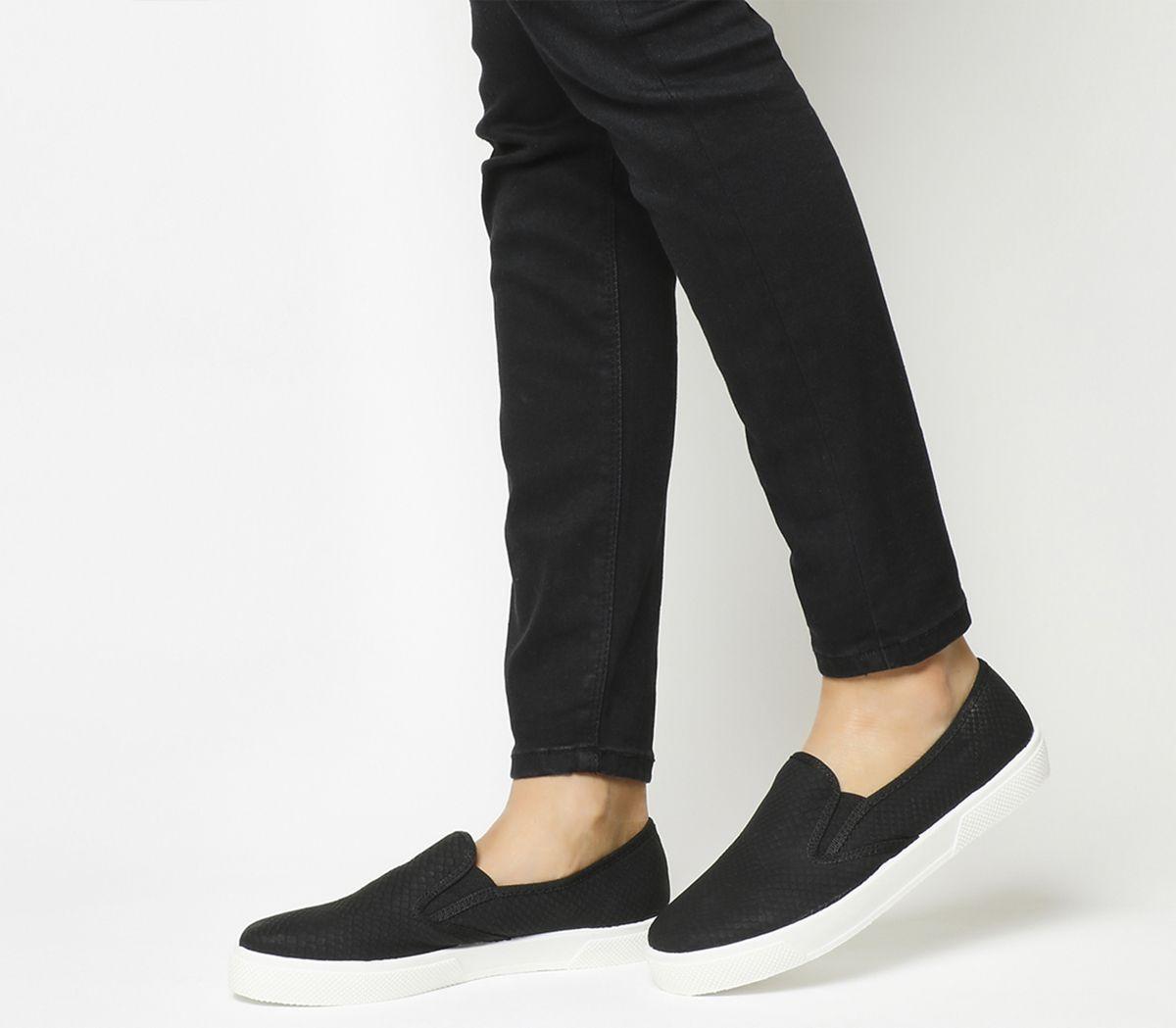 952d14d62542 Office Kicker Slip On Shoes Black Snake - Flats