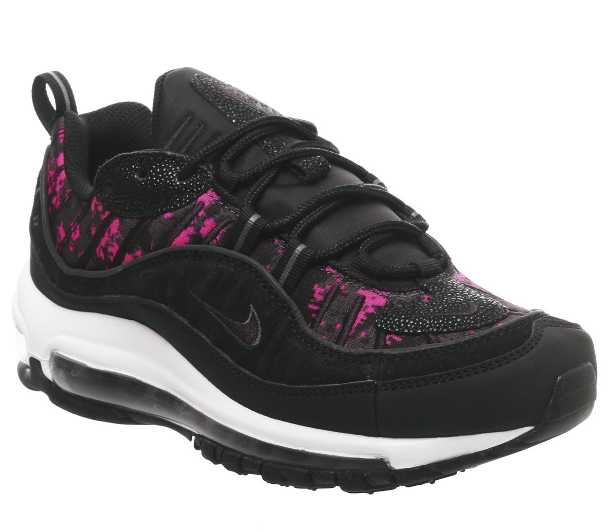 hot sale online ecb46 8bf37 Nike Air Max 98 Trainers Black Black Hyper Pink Camo Snake - Animal ...