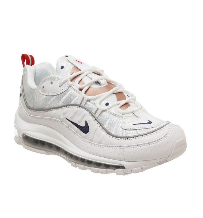 90944b469f Nike Air Max 98 WHITE MIDNIGHT NAVY ROSE GOLD WWC - £165.00 - Bullring & Grand  Central