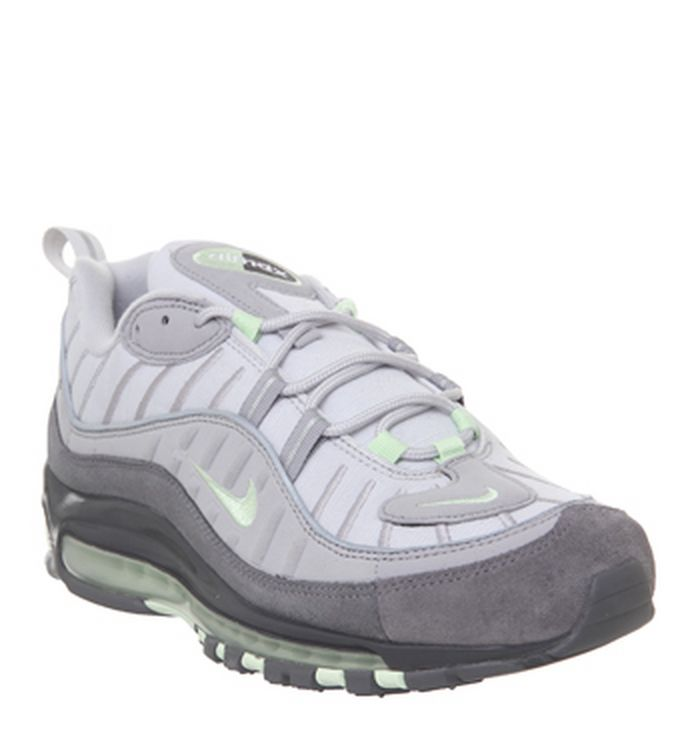 big sale 77dbb c05e4 Launching 16-05-2019. Nike Air Max 98 Trainers Vast Grey Fresh Mint  Atmosphere Grey. £145.00. Quickbuy