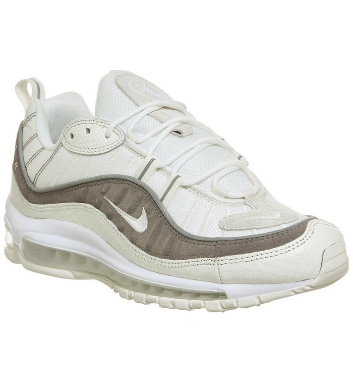 premium selection d92e4 7f2e2 Air Max 98 Trainers  Nike, Air Max 98 Trainers, Sail White Sepia Stone ...