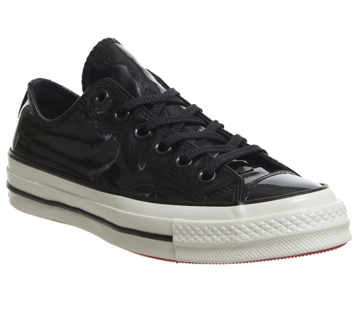 4637796a8f75 Converse All Star Ox 70S Trainers Black Black Egret Patent - Hers ...