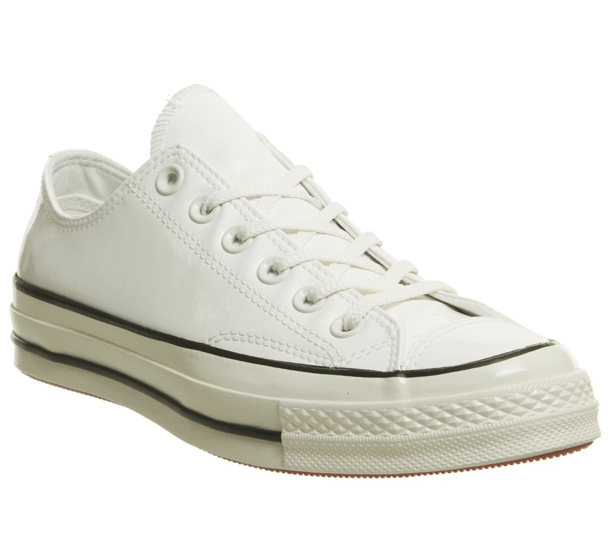0bd33b803212 Converse All Star Ox 70 s Trainers Vintage White Black Egret Patent ...