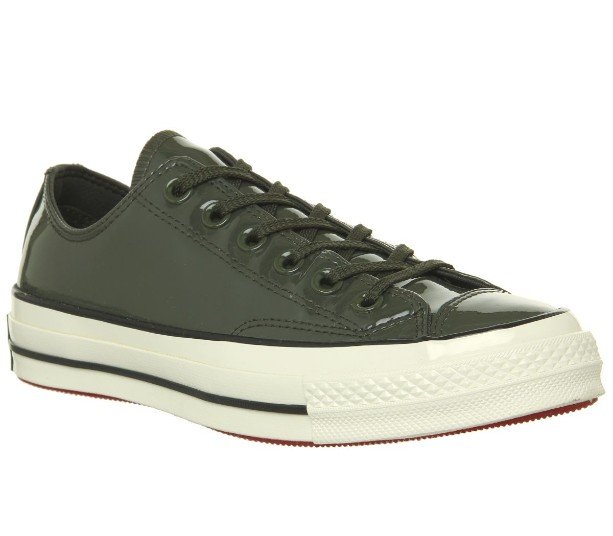 8b98a6059ad0 Converse All Star Ox 70 s Trainers Utlity Green Black Egret Patent ...
