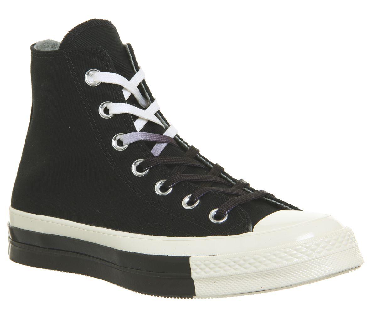 f45c38fb36ef Converse All Star Hi 70s Trainers Black Egret Split - Hers trainers