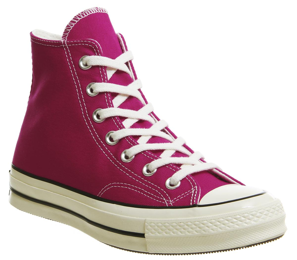 8c3c467fd8d6 Converse All Star Hi 70 s Trainers Pink Pop Black Egret - Unisex Sports