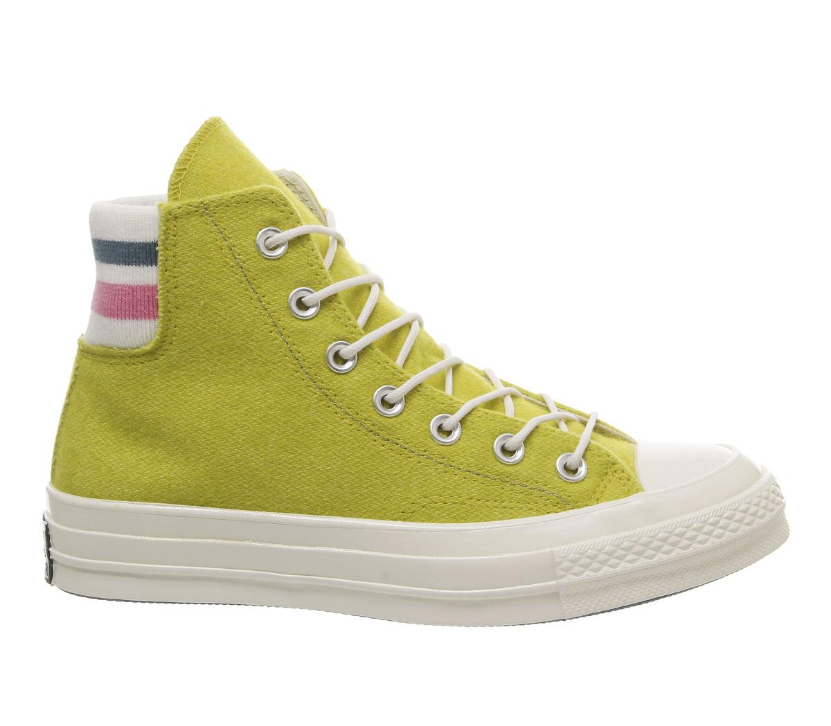 Converse Hi Bold Citron 70's Unisex Pink All Sports Trainers Star HWI9D2E