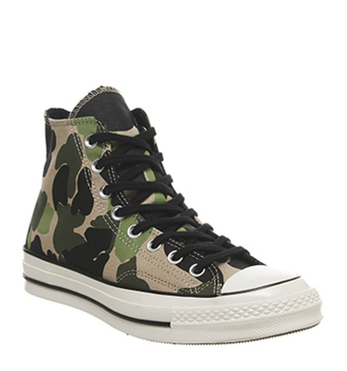 dc87e2648534 Launching 01-03-2019. Converse All Star Hi 70 s Trainers Camo Candied  Ginger Piquant Green