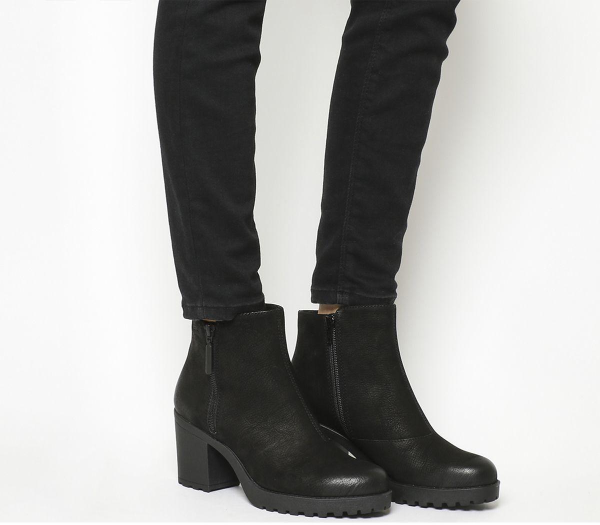 4776d1ad97 Vagabond Grace Zip Boots Black Nubuck - Ankle Boots
