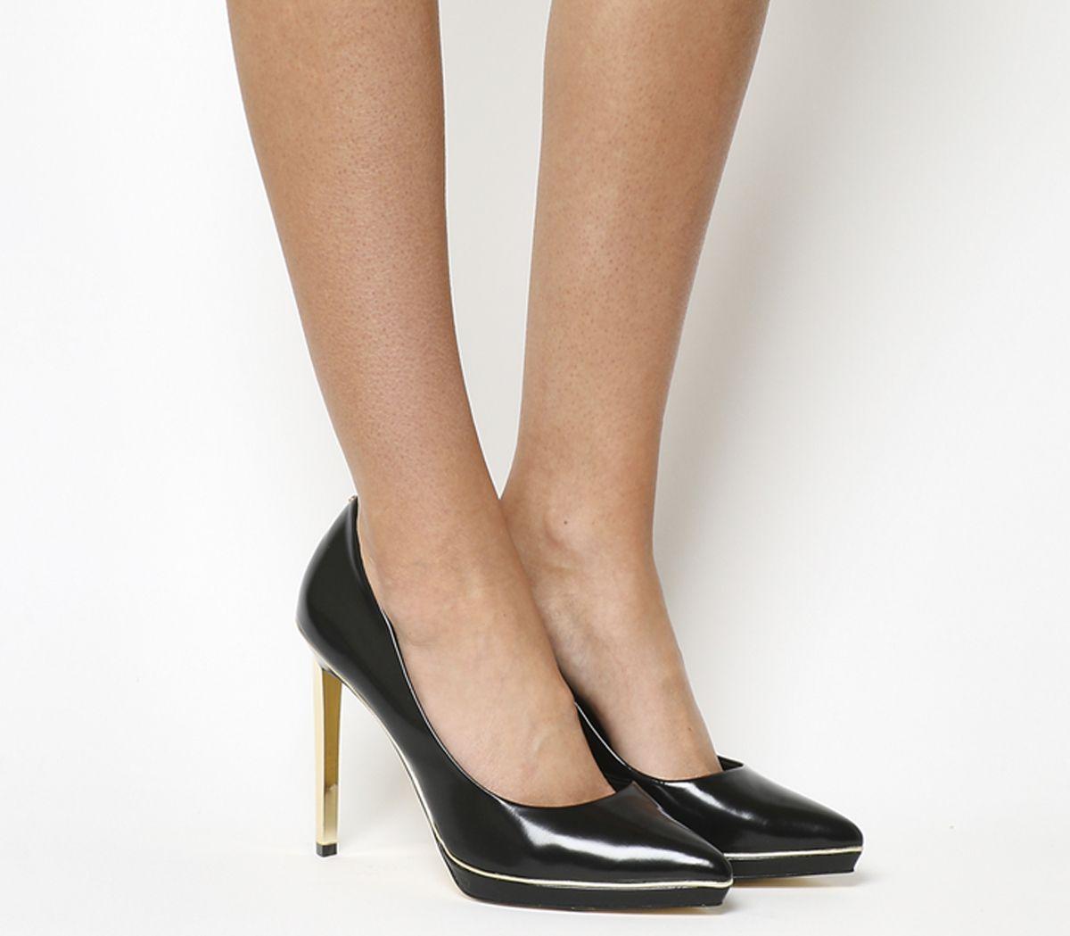 6728e45ad08 Ted Baker Elvena Heel Black Hi Shine Leather - High Heels