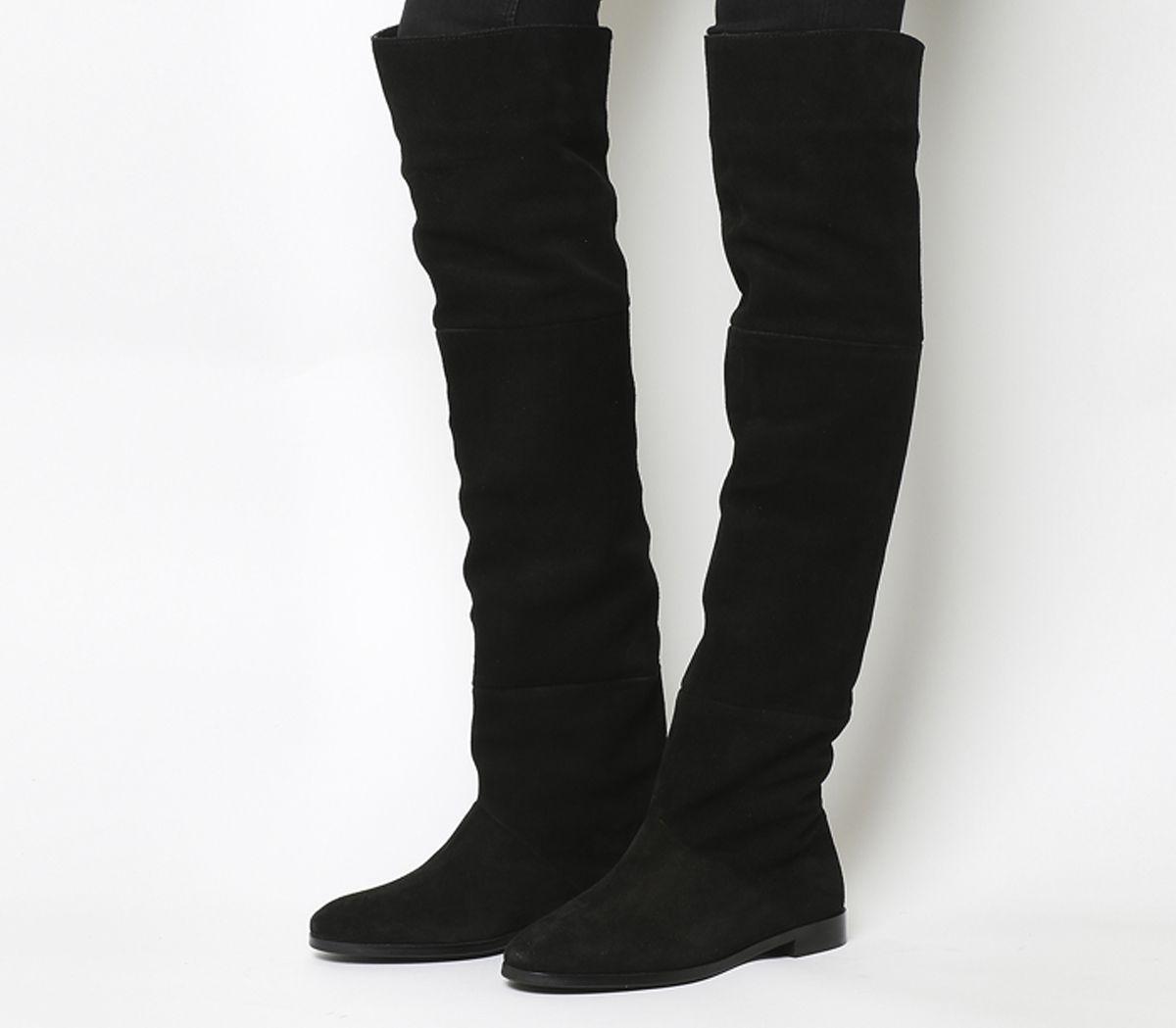 3ba6b7d5e10e7 Office Nova Thigh High Boots Black Suede - Knee Boots