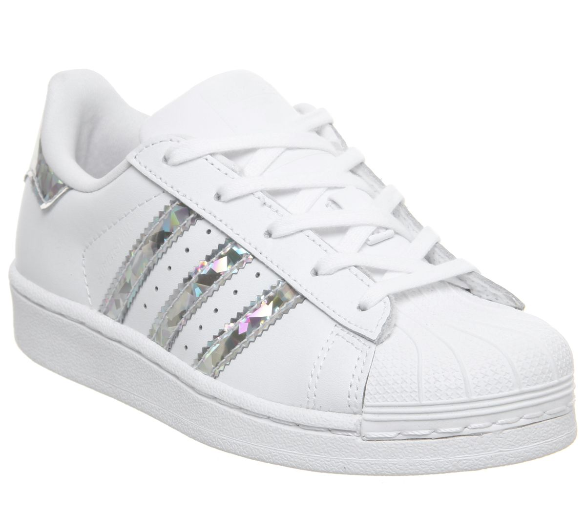 check out c553f 0e760 adidas Superstar Kids 10-2 Trainers Metallic Silver White - Unisex