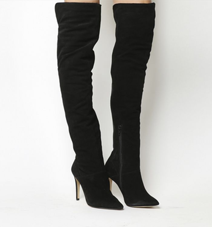 809c4d027bdb8 16-10-2014 · Office Neve Over The Knee Boots Black Suede