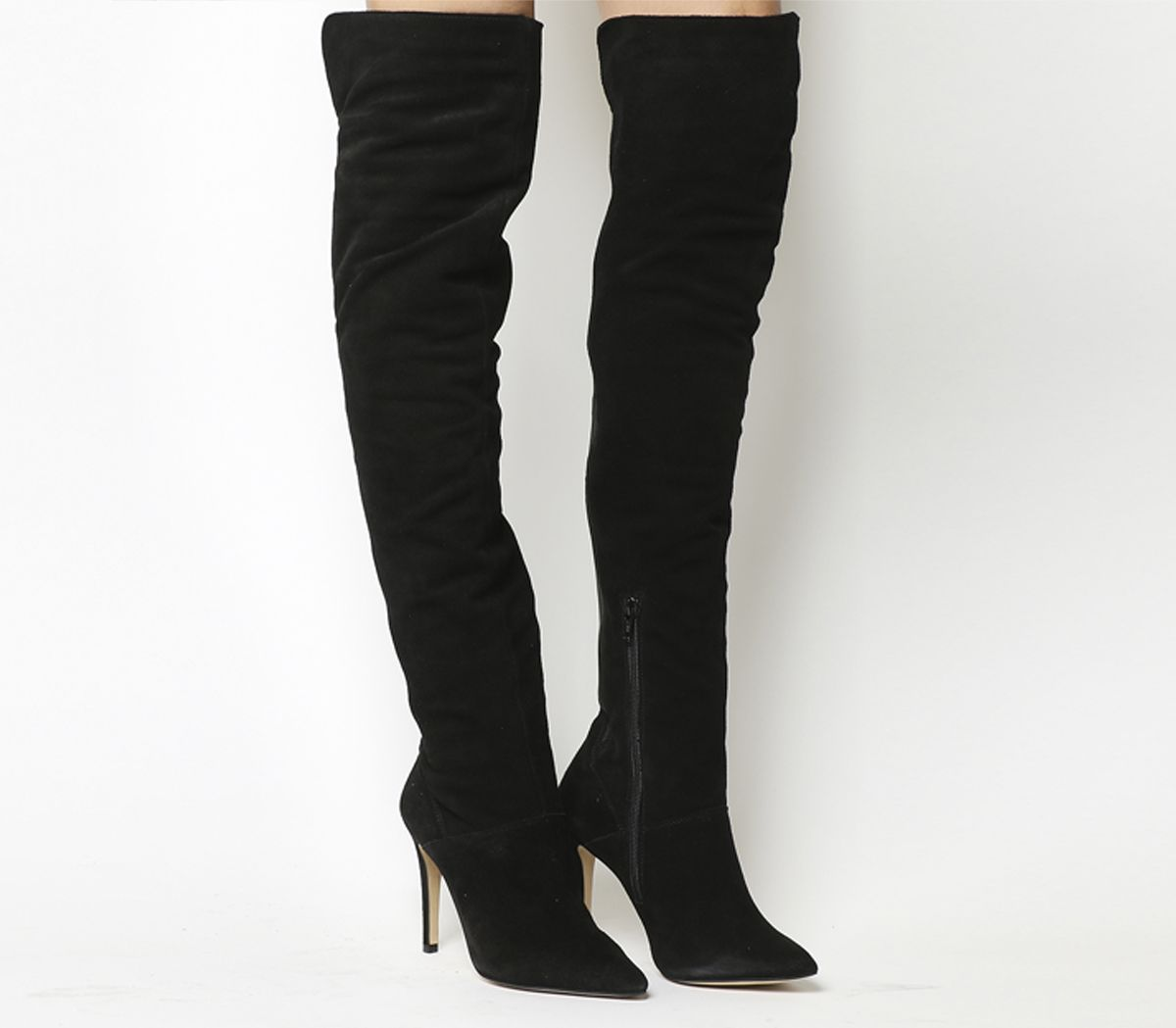 723912d3444 Office Neve Over The Knee Boots Black Suede - Knee Boots