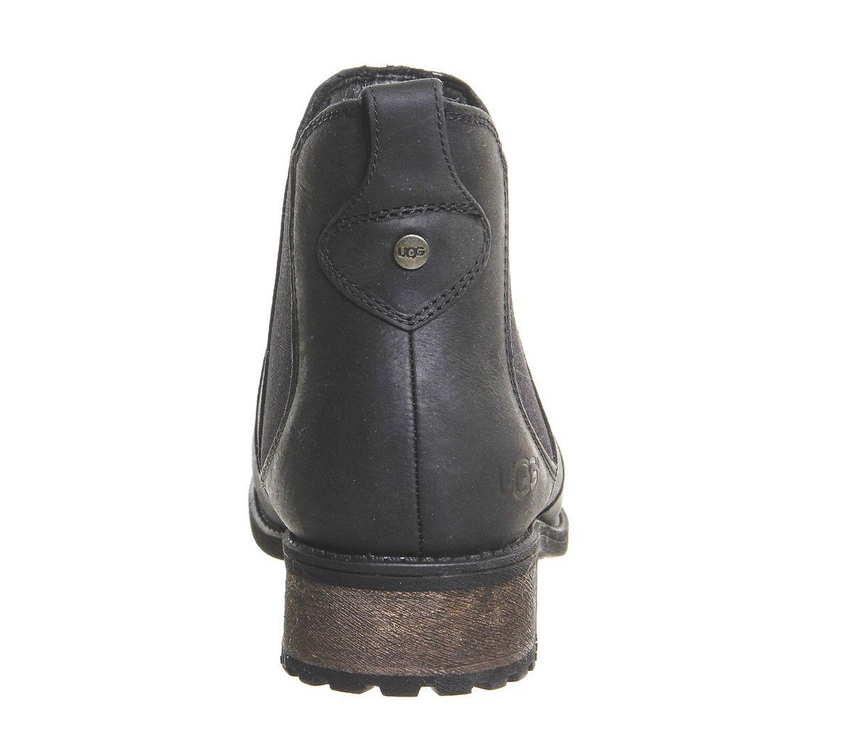 Ugg Bonham Chelsea Boots Black Leather Ankle Boots