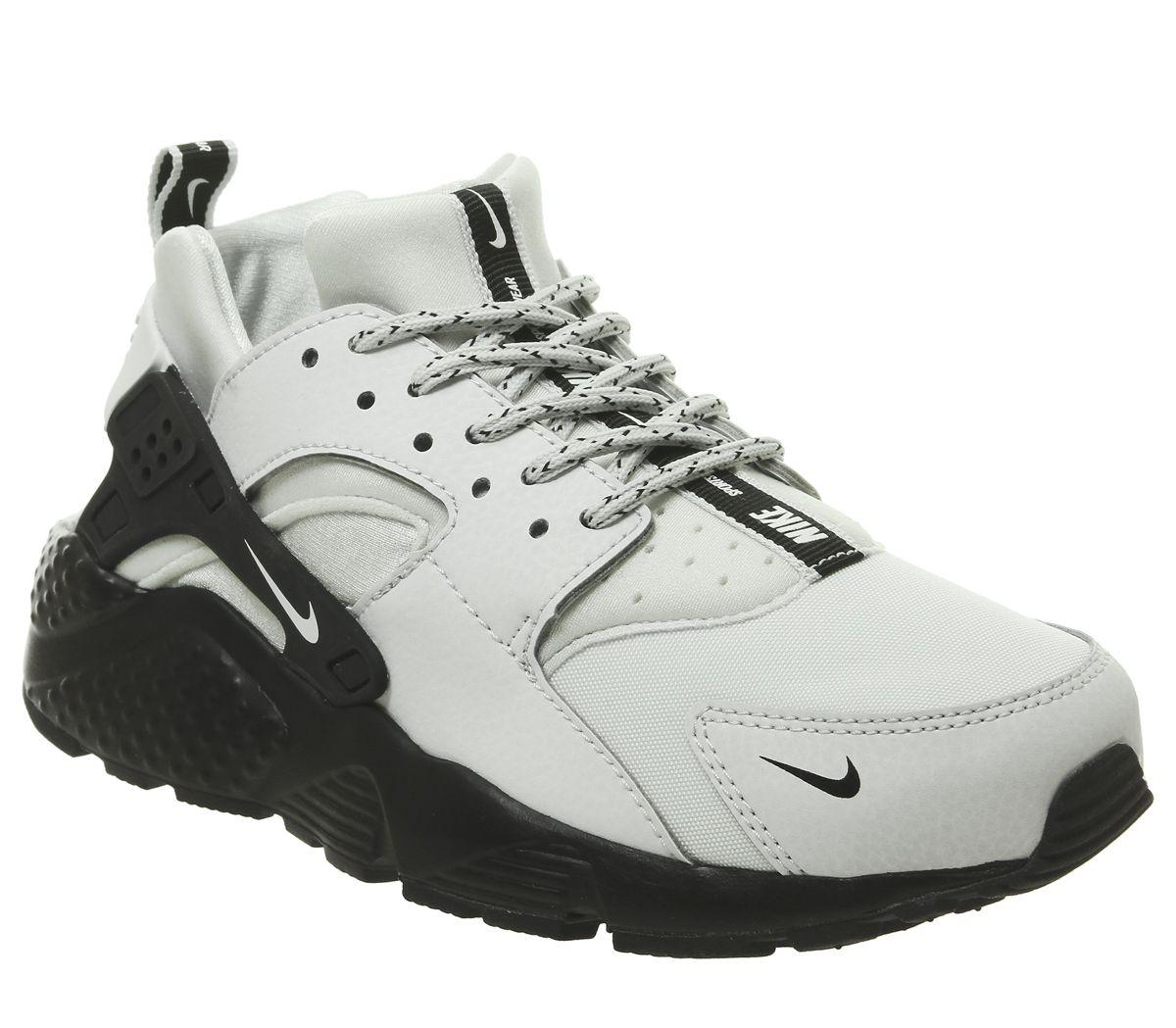 new product 1636b 032a2 Nike Huarache Gs Trainers Pure Platinum White Black - Unisex