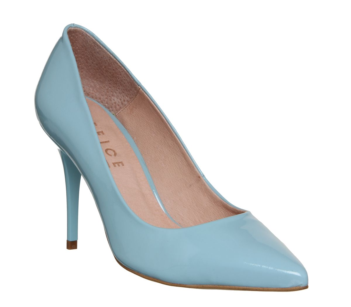 e7669f8230 Office Graduate Point Court Heels Pastel Blue Patent Leather - Mid Heels