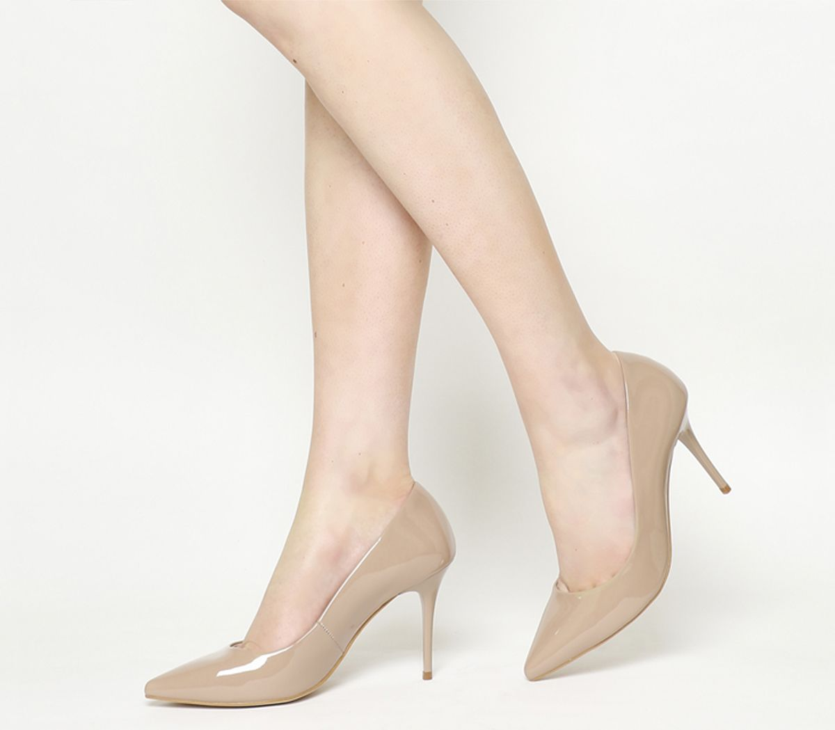 f657f06306 Office Graduate Point Court Heels Nude Patent - Mid Heels