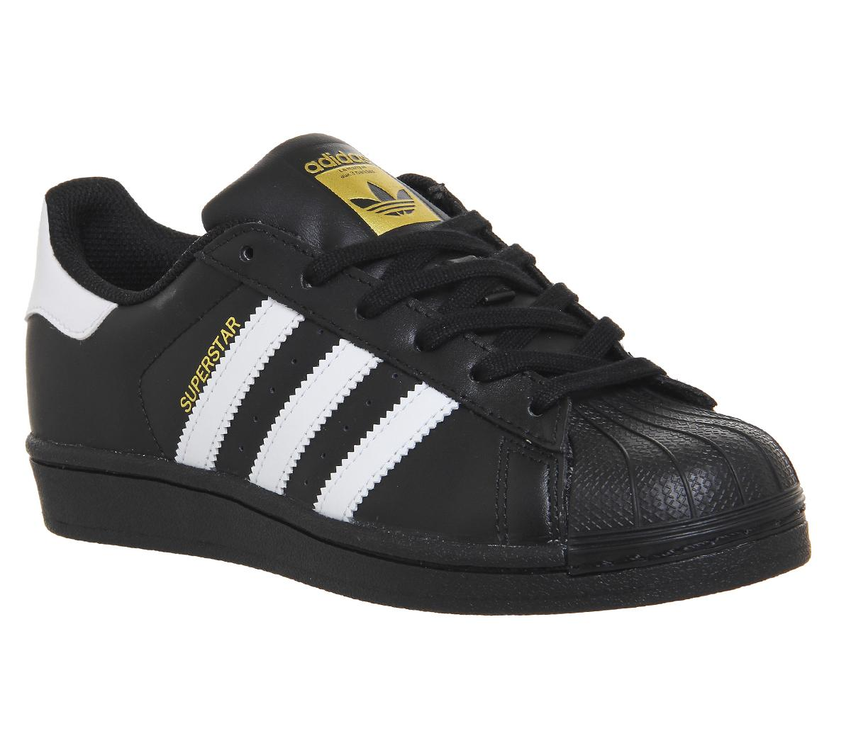Superstar Kids Black Adidas Trainers Foundation White OnX0wk8P