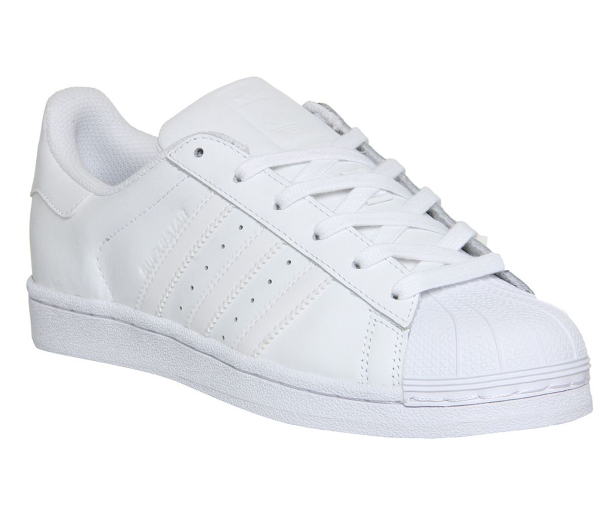 5334bd676ff adidas Superstar Trainers White Mono Foundation - Kids Trainers