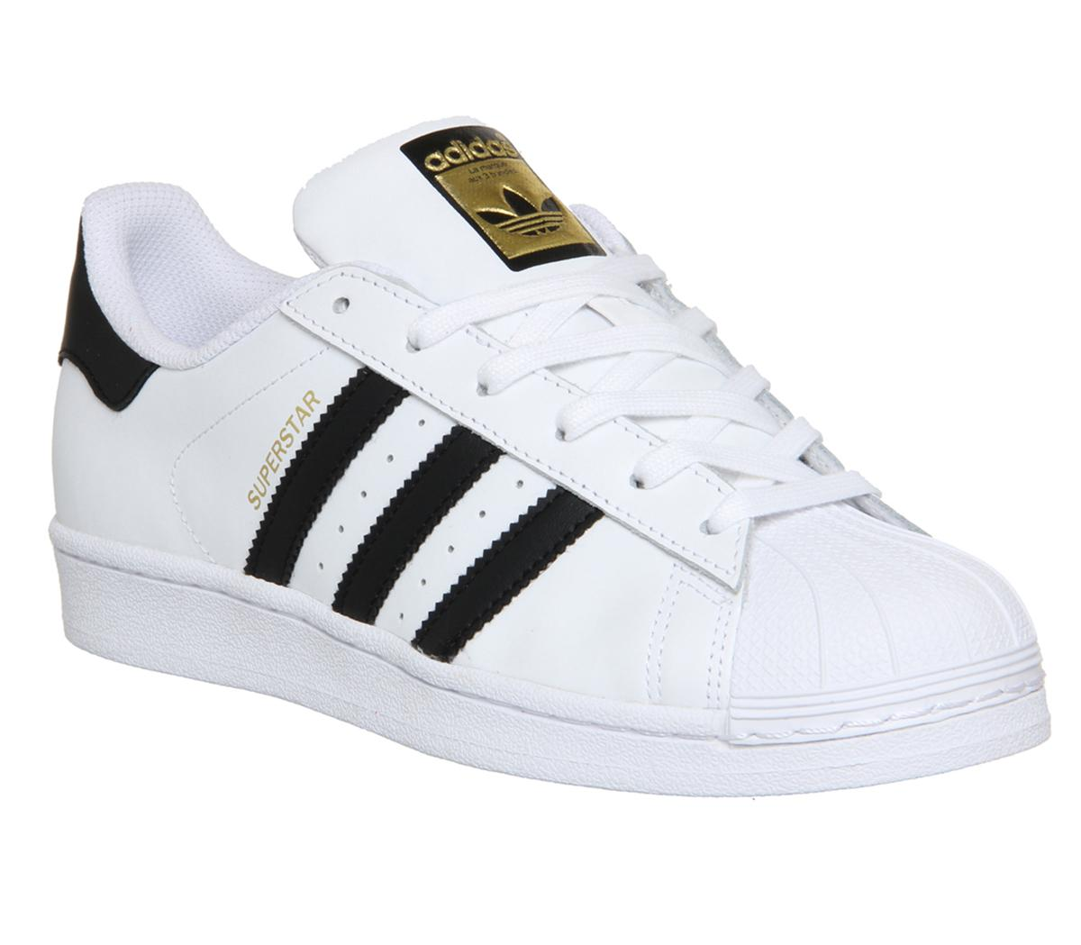 adidas Superstar Trainers White Black Foundation junior