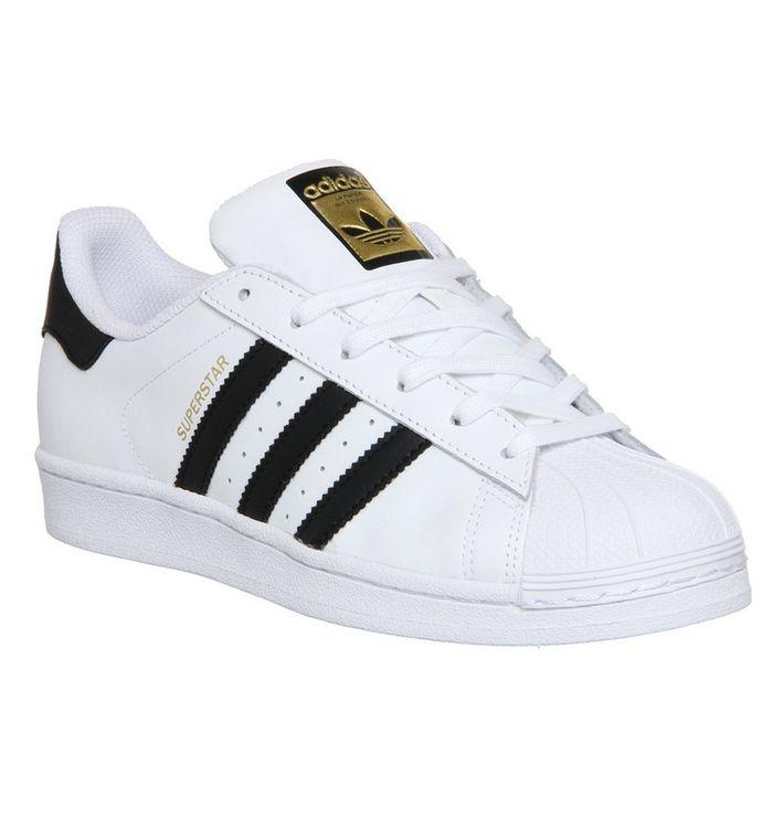 adidas superstar gs black white foundation