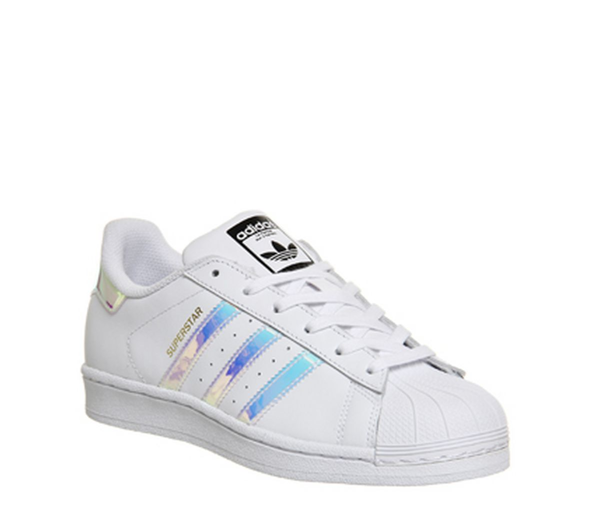 official photos 5ffaa dea96 adidas Superstar White Metallic Silver White - Hers trainers