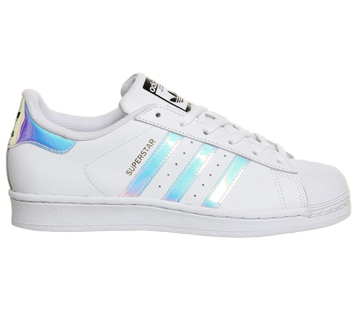 c687149625ec Adidas Superstar White Metallic Silver White - Hers trainers