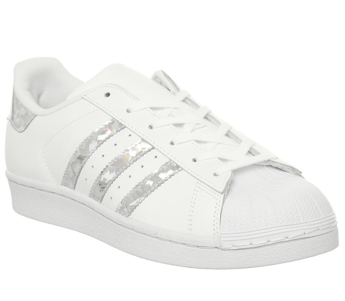 adidas Superstar Women's white silver white, 39.5