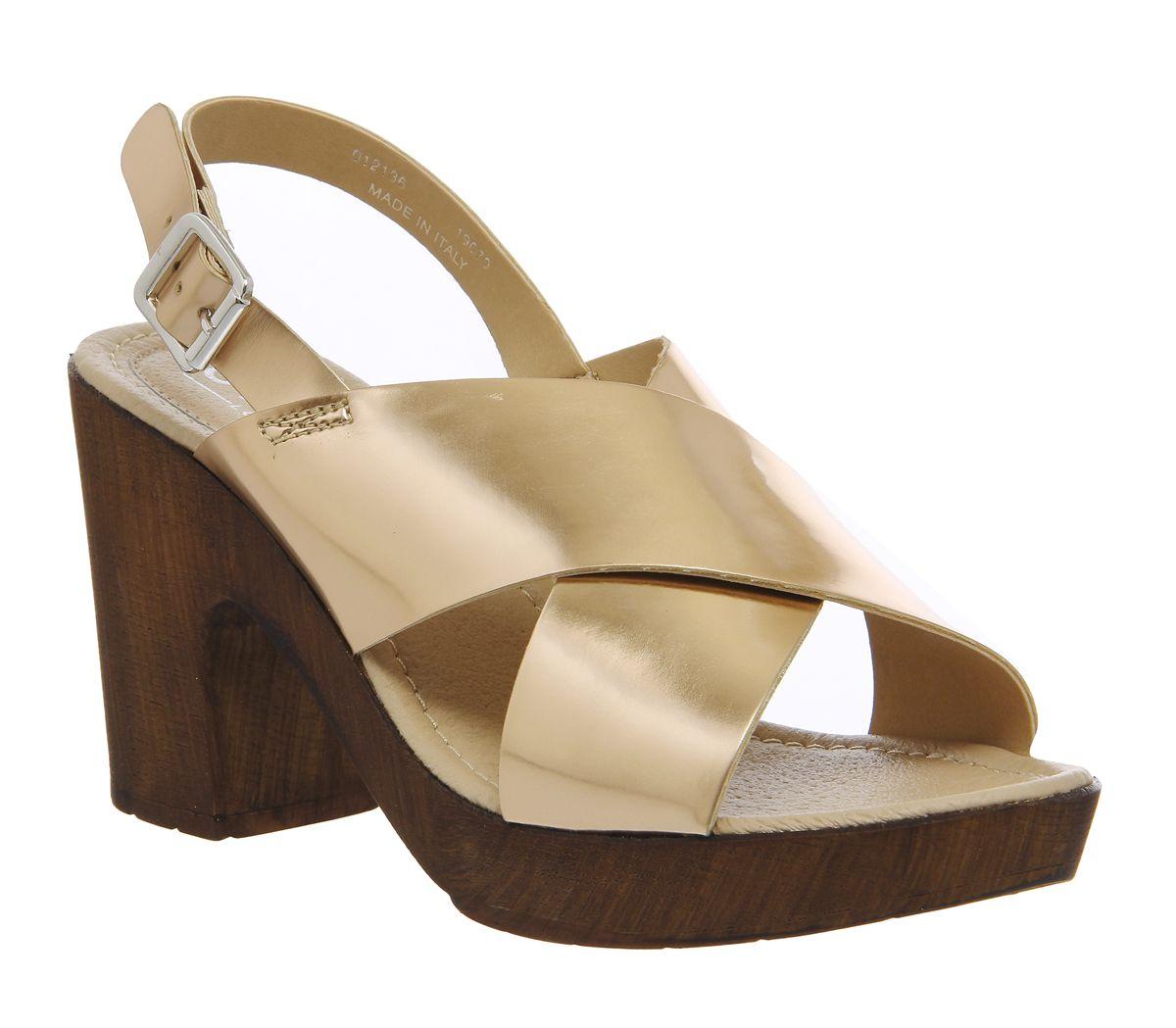 bd2b4b488 Office Wolf Cross Strap Sandals Rose Gold - Sandals