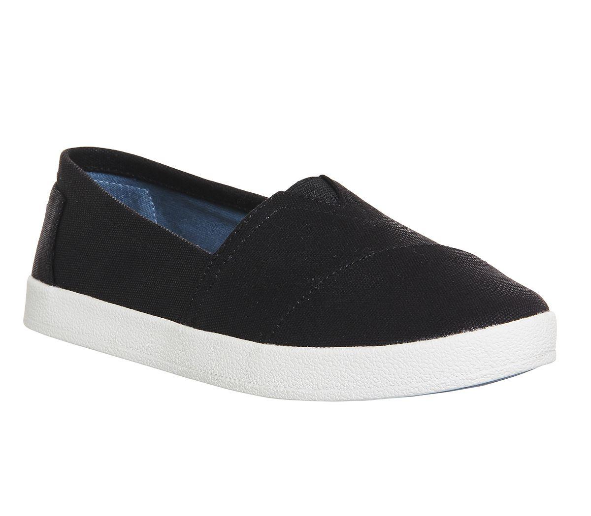 1b305b8de2ff Toms Avalon Sneaker Black Coated Canvas - Flats