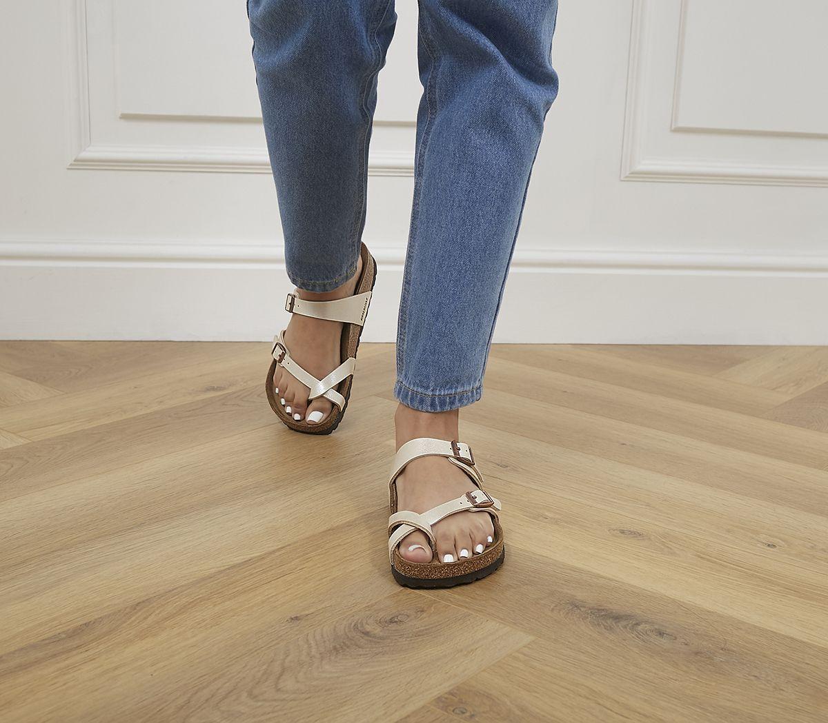 1640f52b31877 Birkenstock Mayari Cross Strap Sandals Graceful Pearl White - Sandals