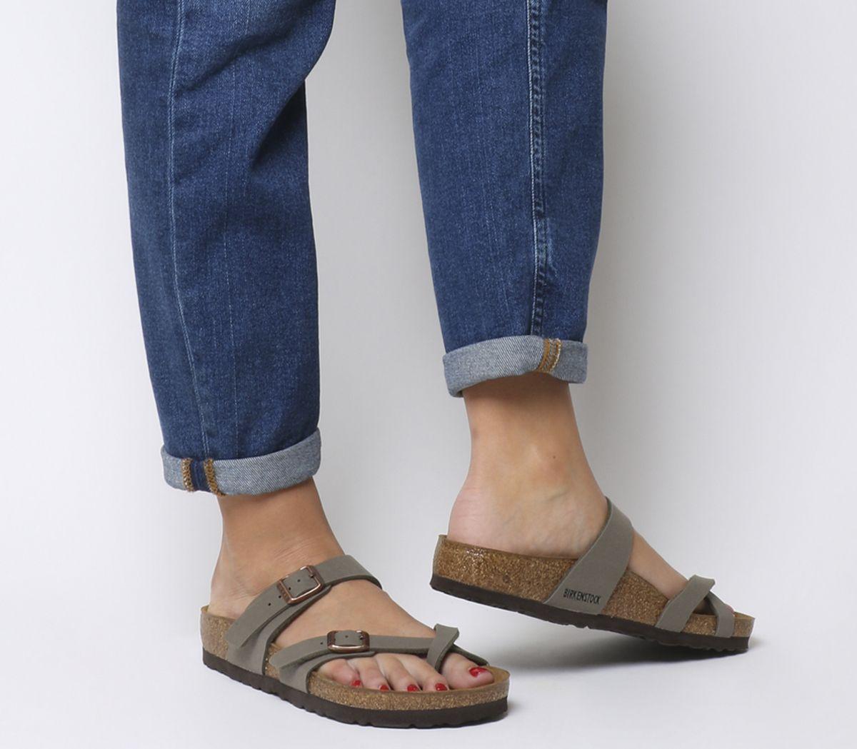 4054e8b3d Birkenstock Mayari Cross Strap Sandals Stone - Sandals
